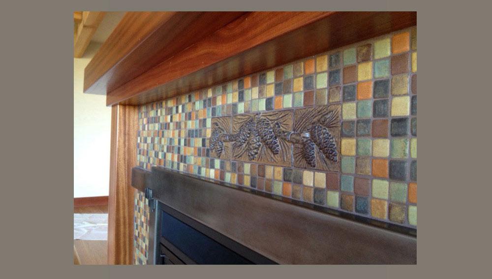 Ceramic relief tiles
