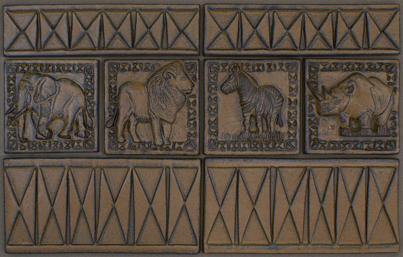 Giraffe Lion Elephant Tiles