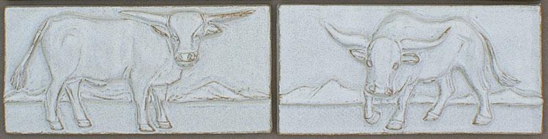 Ceramic Bull Tiles