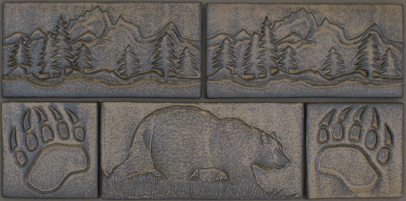 CERAMIC ANIMAL BORDER TILES IN RICH EARTH TONES FOR KITCHEN BACKSPLASH u0026  SURROUNDS