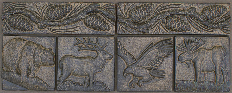 Ceramic Elk Tile