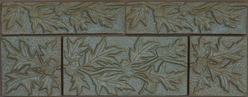 Ceramic Leaf Tile